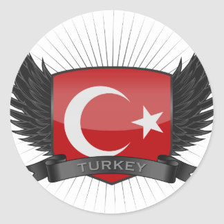 TURKEY ROUND STICKER