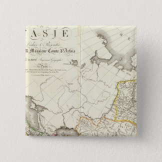 Turkey, Russia and Asia Engraved Map 15 Cm Square Badge