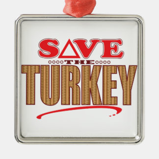 Turkey Save Christmas Ornament