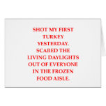 turkey shoot greeting card