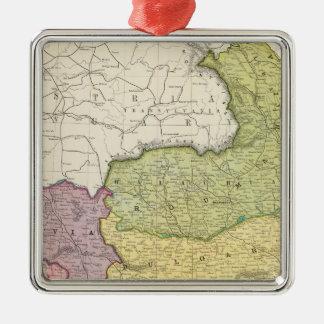 Turkey Silver-Colored Square Decoration