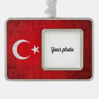 Turkey Silver Plated Framed Ornament