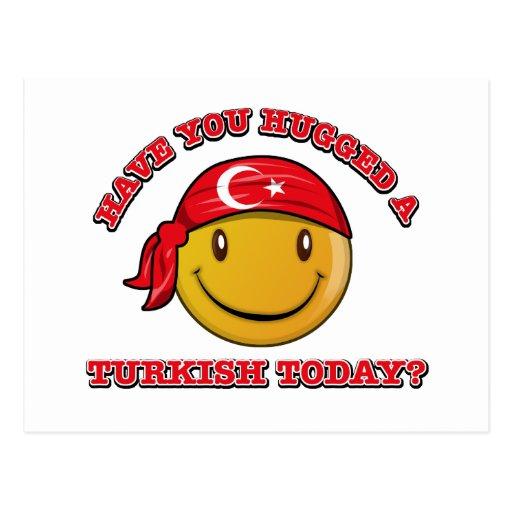 Turkey smiley flag designs post cards