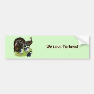 Turkey Standard Bronze Family Bumper Sticker
