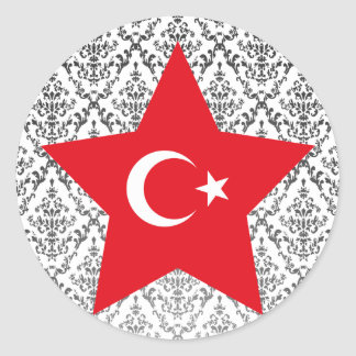 Turkey Star Round Sticker