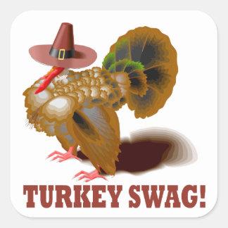 Turkey Swag Square Sticker