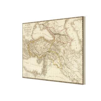 Turkey Syria map Canvas Print