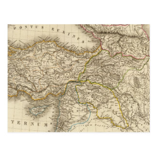 Turkey Syria map Postcard