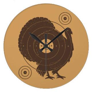 Turkey Target Wall Clock