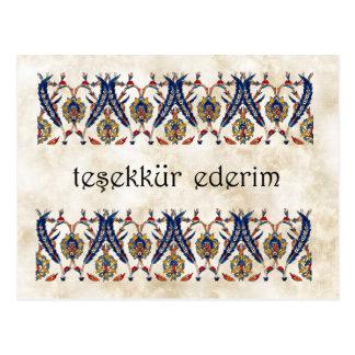 TURKEY -  Thank You Postcard