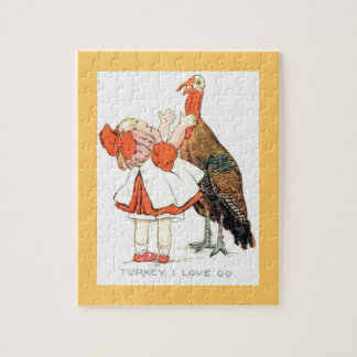 Turkey Thanksgiving Love You Puzzle