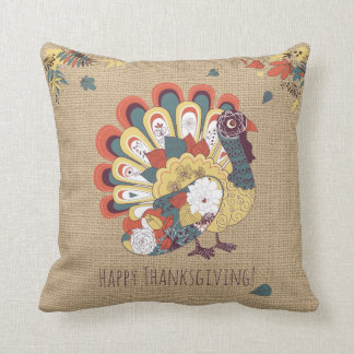 Turkey Thanksgiving Pillow