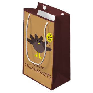 Turkey Time Thanksgiving Custom Gift Bag