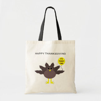 Turkey Time Thanksgiving Customizable Bag