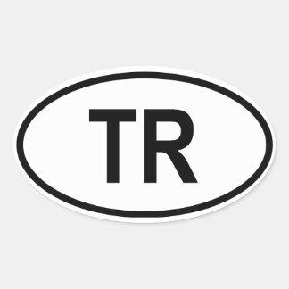 """Turkey """"TR"""" Oval Sticker"""