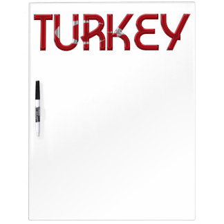 Turkey Turkish Flag Colors Typography Dry Erase Board