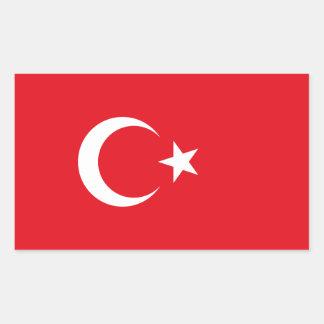 Turkey/Turkish Flag Rectangular Sticker