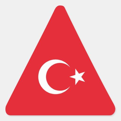 Turkey/Turkish Flag Triangle Sticker