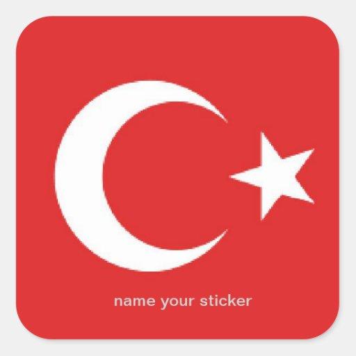 Turkey turkish flag sticker