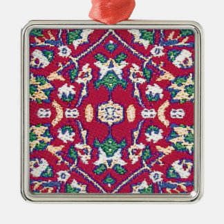Turkey,Turkish,Textile,Cloth,Rug Pattern Muted Red Christmas Ornament