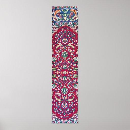 Turkey,Turkish Textile Cloth Rug Pattern Print