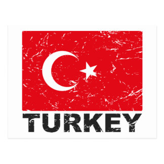 Turkey Vintage Flag Postcard