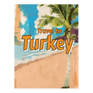 Turkey Vintage vacation Poster Post Cards