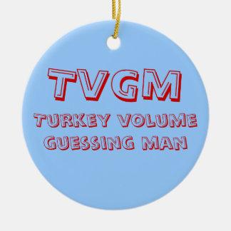 Turkey Volume Guessing Man Christmas Ornament