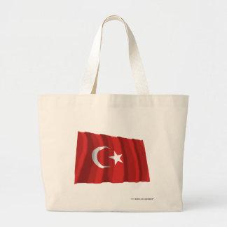 Turkey Waving Flag Jumbo Tote Bag