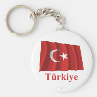 Turkey Waving Flag with Name in Turkish Key Ring