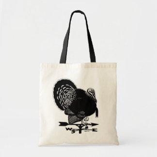 Turkey Weathervane Budget Tote Bag