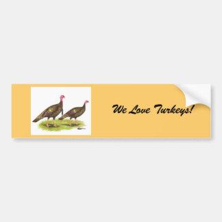 Turkey:  Wild Bronze Bumper Sticker