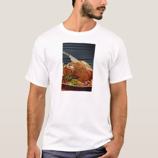 Turkey with carving knife T-Shirt