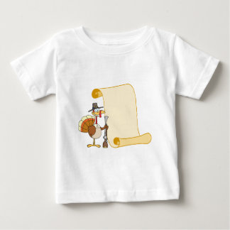 Turkey With Pilgrim Hat and Musket And Scroll Infant T-Shirt