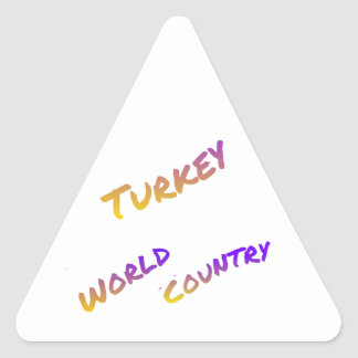 Turkey World Country letter art color sticker