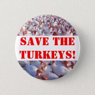 Turkeys 6 Cm Round Badge