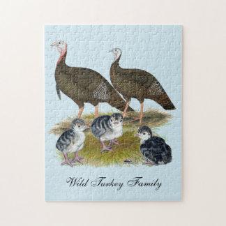 Turkeys Eastern Wild Family Puzzle