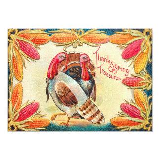 Turkeys Sweet Corn Indian Corn Feed 13 Cm X 18 Cm Invitation Card