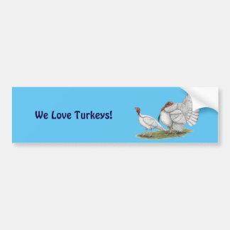 Turkeys White Holland Bumper Sticker