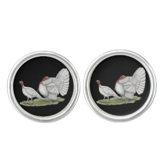 Turkeys White Holland Cufflinks
