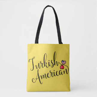 Turkish American Entwined Hearts Grocery Bag