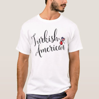 Turkish American Entwined Hearts Tee Shirt
