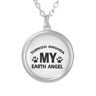 TURKISH ANGORA cat design Silver Plated Necklace