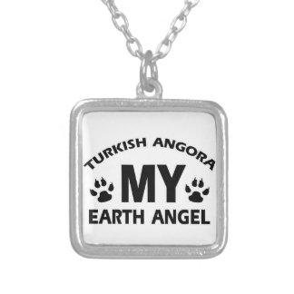 TURKISH ANGORA cat design Square Pendant Necklace