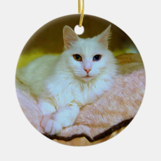 Turkish Angora Princess Cat Ornament