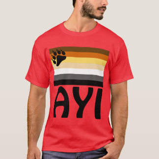 Turkish (Ayı)  Gay Bear Pride Flag T-Shirt