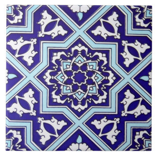 Turkish Blue Design Ceramic Photo Tile