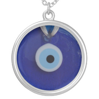 TURKISH  BLUE GLASS EVIL EYE AMULET  Necklace