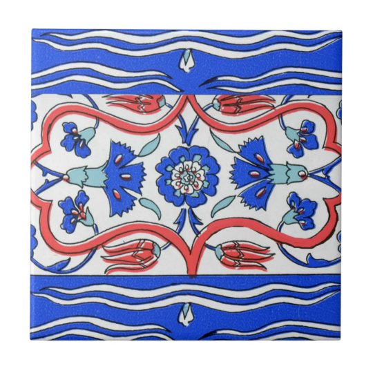 Turkish Border Patterned Small Square Tile