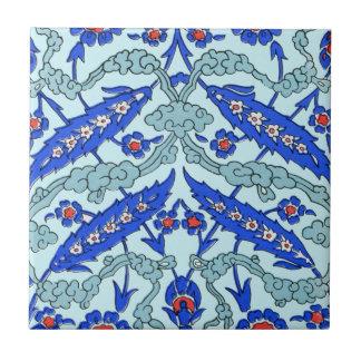 Turkish Border Turquoise Small Square Tile